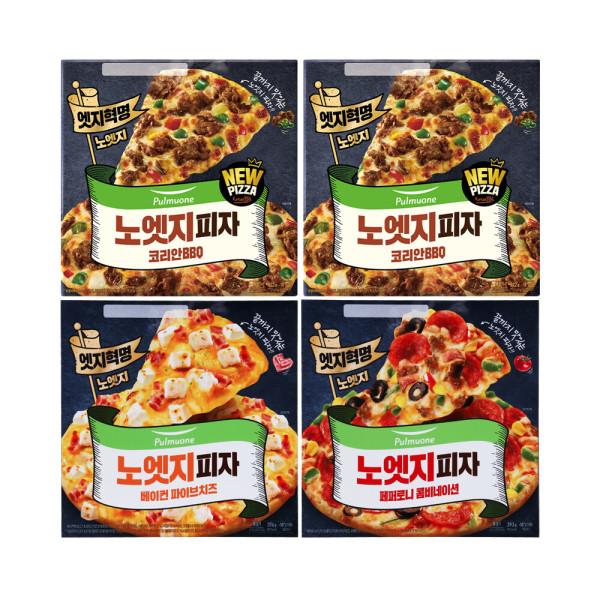 노엣지꽉찬토핑피자 4판(불고기2+치즈1+콤비네이션1) 상품이미지
