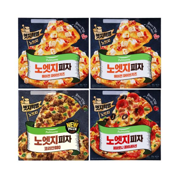 노엣지꽉찬토핑피자 4판(불고기1+치즈2+콤비네이션1) 상품이미지