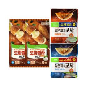 풀무원 기획세트(교자만두 4봉+모짜렐라 핫도그10개)