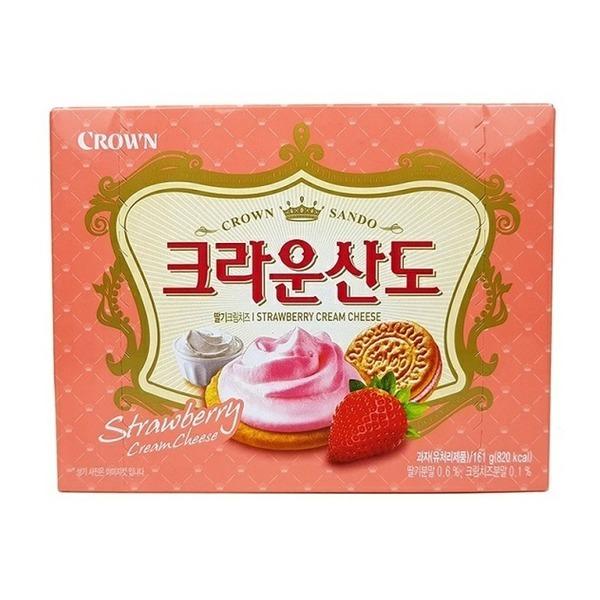 e편의점 크라운 크라운산도 딸기크림치즈 161g 상품이미지