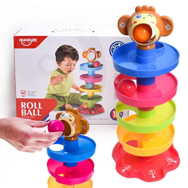 원숭이 마블런 롤링 볼 타워/공놀이 탑쌓기 감각 발달 상품이미지