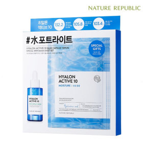 Nature Republic Hyalon Active 10 Blue Capsule Serum with Mask Sheet