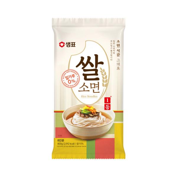 밀가루를 전혀 사용하지 않은 글루텐프리 쌀소면 800g 상품이미지