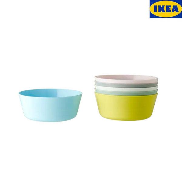 칼라스 그릇 6P 파스텔 이유식그릇 간식그릇 플라스틱 상품이미지