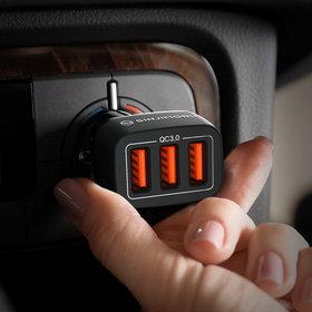 3포트 차량용 고속 충전기 시거잭 급속 핸드폰 휴대폰