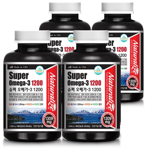 슈퍼오메가3 1200 비타민D1000 180캡슐 x 4병 24개월 상품이미지