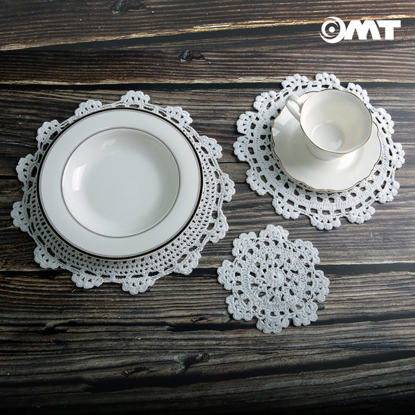 OMT 수제 코바늘 냄비받침 컵받침 코스터 중형OCS-A25 상품이미지