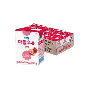 매일우유 딸기 멸균 200ml 24팩 무배