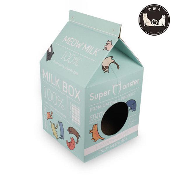 슈몬 밀크박스 스크레쳐 파스텔 민트 고양이 하우스 상품이미지