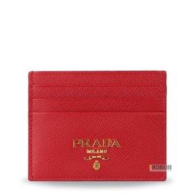 프라다 여성 사피아노 로고 레드 카드 지갑 1MC025 QWA F068Z