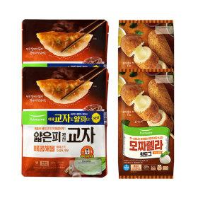 풀무원 간식세트(해물만두 4봉+모짜렐라핫도그 10개)