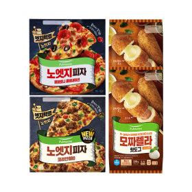 노엣지토핑피자 2판(불고기/콤비네이션)+핫도그10개