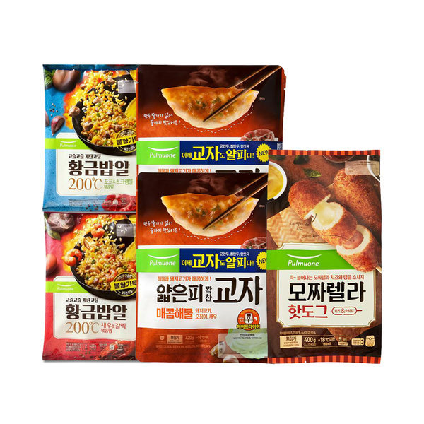 풀무원 집콕세트(볶음밥4인분+핫도그5개+해물만두4봉) 상품이미지
