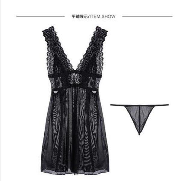 성인 투명 속옷 섹시한 잠옷 정취 코스프레의상 T팬티 상품이미지