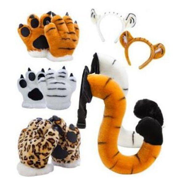 어린이 장난감 호랑이장갑+꼬리+머리띠 3종선물세트 상품이미지