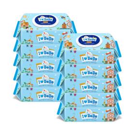 아이러브베베 블루 80매 10팩 캡형 아기물티슈