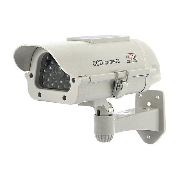 모형CCTV 감시카메라 IN11G태양광화이트 건전지+스티커 상품이미지
