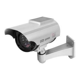 모형CCTV 감시카메라 IN11H 태양광 실버 건전지+스티커