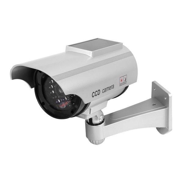 모형CCTV 감시카메라 IN11H 태양광 실버 건전지+스티커 상품이미지