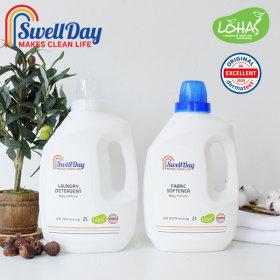 세탁세제2L+섬유유연제2L  2개세트 미세플라스틱FREE