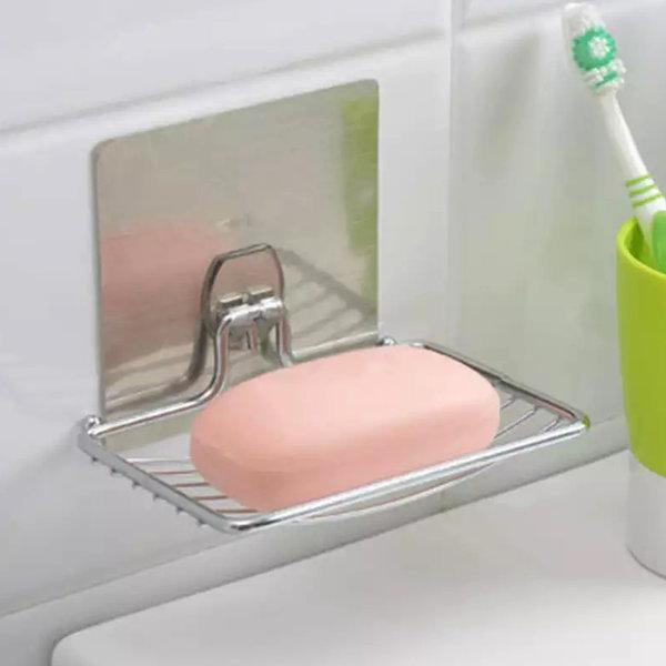 스텐 매직후크 비누받침대 비누거치대 비누절약 홀더 상품이미지