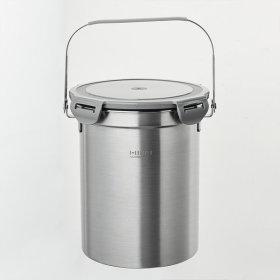 냄새가안나는 가정용 스텐 음식물 쓰레기통 3L 그레이