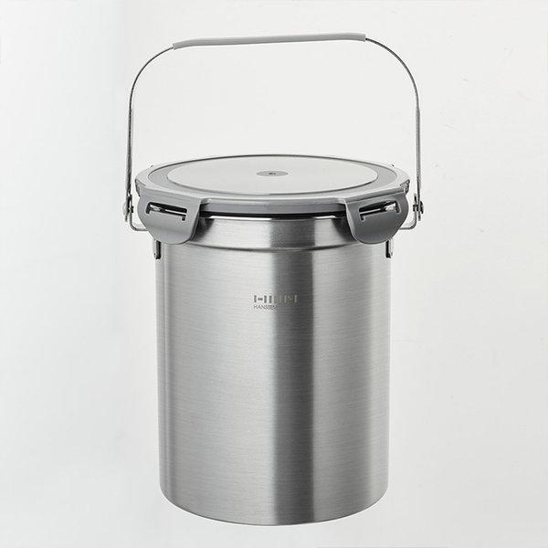 냄새가안나는 가정용 스텐 음식물 쓰레기통 3L 그레이 상품이미지