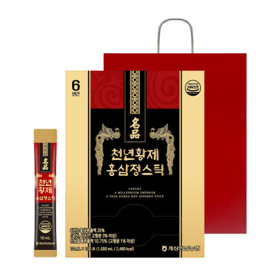 천년황제 홍삼정스틱 10ml 100포 대용량/홍삼+인삼열매