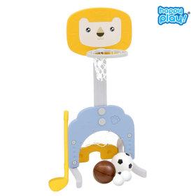 장난감 라이온 농구대 3in1_옐로우/유아 농구대 어린이