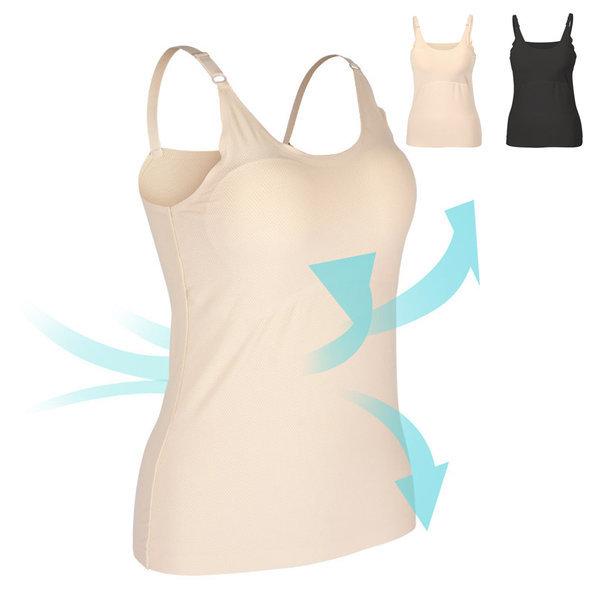 (D46 에어메쉬 브라 끈 나시) 여성 캡 런닝 여름 속옷 상품이미지