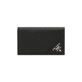 프라다 남성 사피아노 로고 블랙 카드 지갑 2MC122 QME F0002
