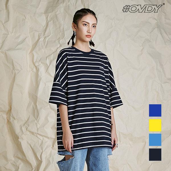 OVDY 배색 스트라이프 반팔 티셔츠 DYMASVM6110 상품이미지