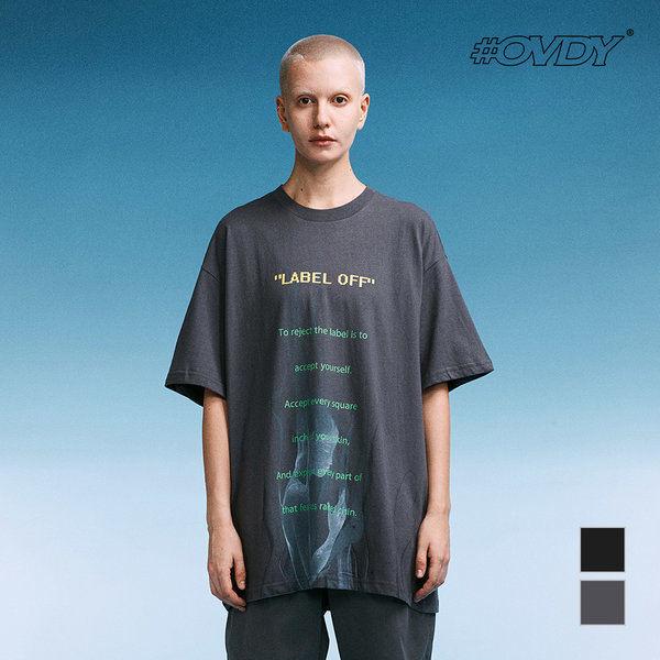 OVDY LABEL OFF LETTERING 반팔 티셔츠 DYMASWM9527 상품이미지