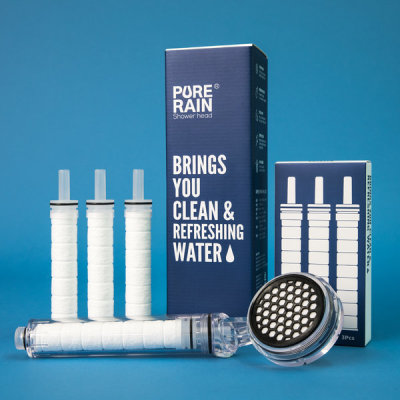Rust Water Chlorine Removal Water Purifying Filter Shower Head Economical Package V2.0