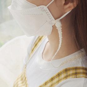 핸드메이드 레이스 마스크 목걸이줄 스트랩 걸이  흰색