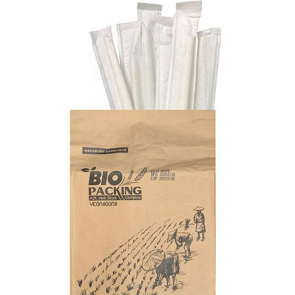 연지곤지 친환경 먹는 쌀빨대 미색 개별 23cm 100개 상품이미지