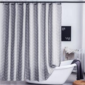 페브릭 욕실 샤워 커튼 가운 타올 샤워봉 방수 파티션