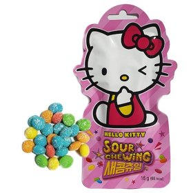 SOUR CHEWING HELLO KITTY 16g/HARIBO/Snack/Korean honeycomb toffee/Biscuit/Sweets