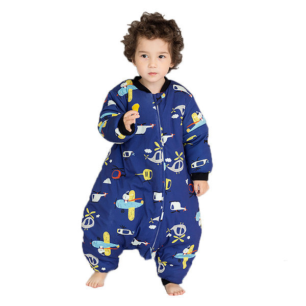 아동 겨울 슬리핑 백 유아 베이비 두꺼운 면 수면잠옷 상품이미지
