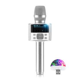 블루투스마이크 M100 화이트 DSP칩 FM송신 듀엣기능