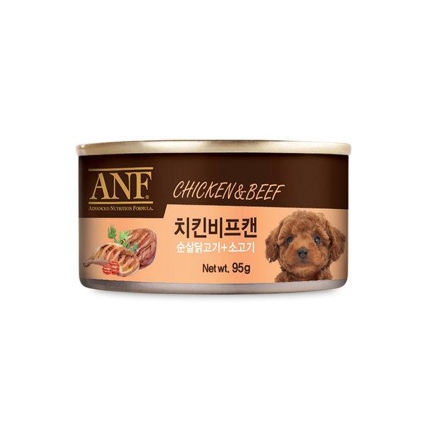 ANF 강아지 치킨 비프 소고기 캔 95g x 24개 1박스 상품이미지