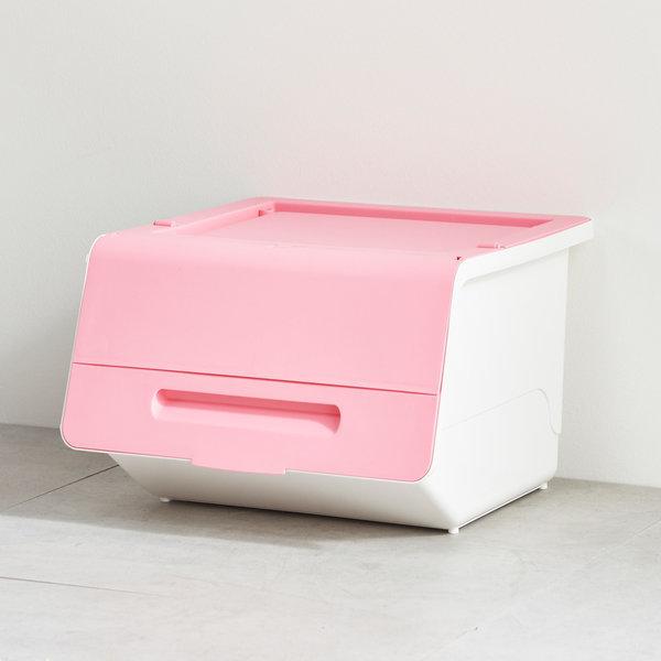 슬라이딩 리빙박스36L_핑크/수납정리함 레고 장난감 상품이미지