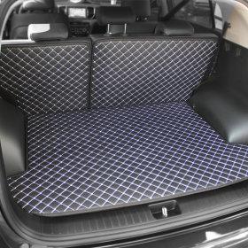 퀼팅가죽 4D 트렁크매트+뒷열커버풀세트 차박매트