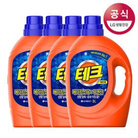 테크 베이킹구연산 액체세제 일반 3Lx4