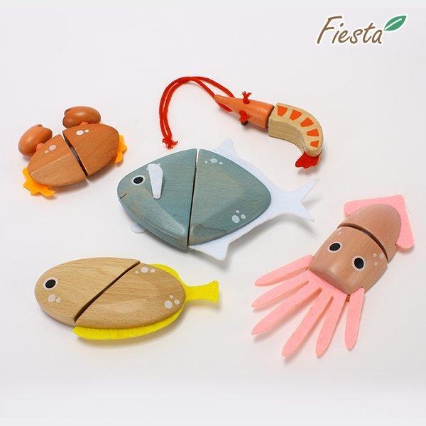 피에스타 원목 자르기 해물 5종 세트 상품이미지