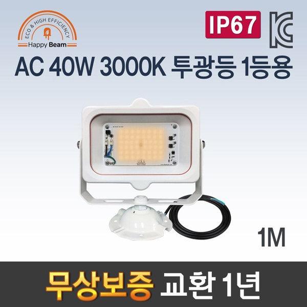 LED공장등/산업등  AA-1B 해피빔 AC 40W 3000K 투광등 상품이미지
