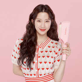 VC20MVL-TRIPLE FLOW WAVE HAIR IRON 32mm Pink Vanilla