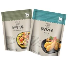 부침가루 1kg + 튀김가루 1kg 유통기한 22년1월/지퍼백