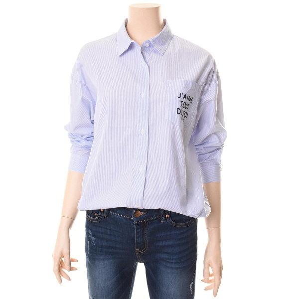 여성 오버핏 스트라이프 면 셔츠 (CICSH801F) 상품이미지