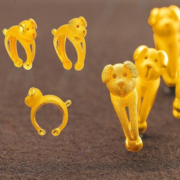 피주얼리 똥강아지2 반지 3.75g 순금 24k 99.9 돌 반지 백일 돌반지 기념 선물용 상품이미지